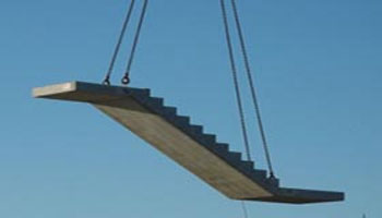 Concrete Stairs Transport and Installation
